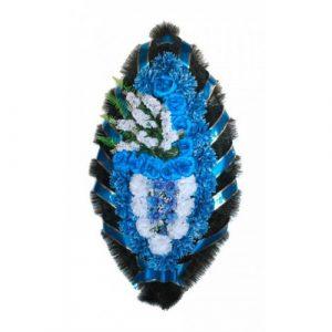 Венок Боковая сирень синяя 110 см