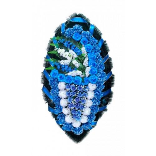 Венок Боковой гладиолус синий 140 см