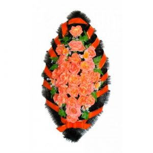 Венок Розы рыжие 110 см