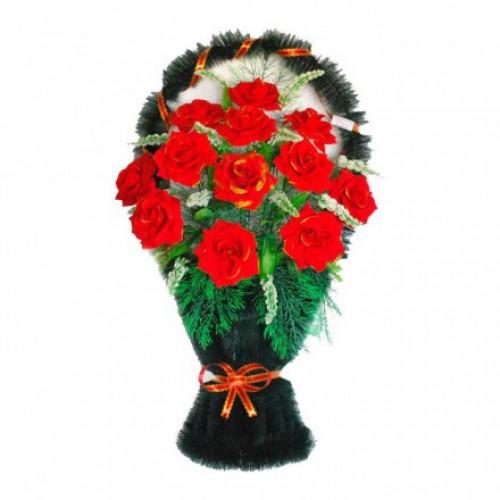 Корзина Полуваза бархатные розы