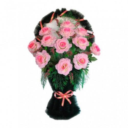 Корзина Полуваза розовая