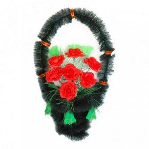 Корзина Стул розы красные