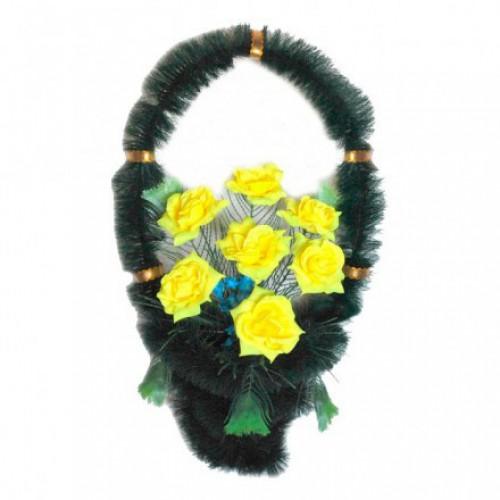 Корзина Стул розы желтые