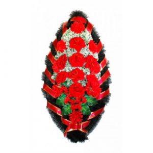 Венок Бархатные розы 110 см