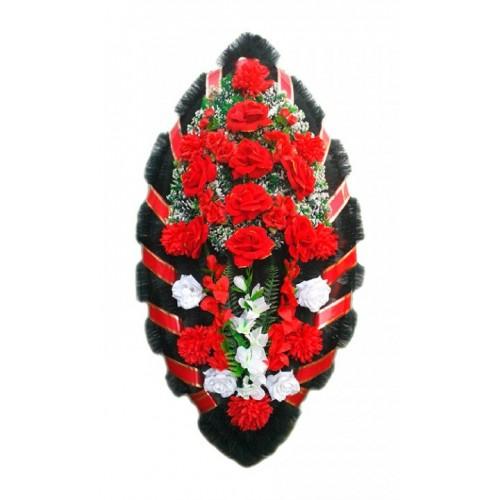 Венок Бархатные розы 125 см