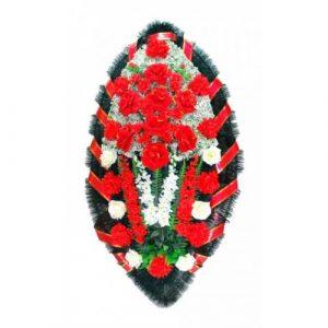 Венок Бархатные розы 140 см