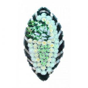 Венок Боковой гладиолус белый 140 см