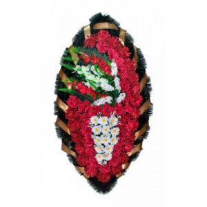 Венок Боковой гладиолус бордовый 140 см