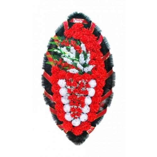 Венок Боковой гладиолус красный 140 см