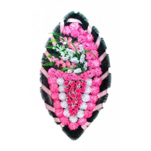 Венок Боковой гладиолус розовый 140 см