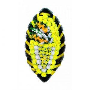 Венок Боковой гладиолус желтый 140 см