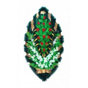 Венок Бутоны бело-красные 125 см