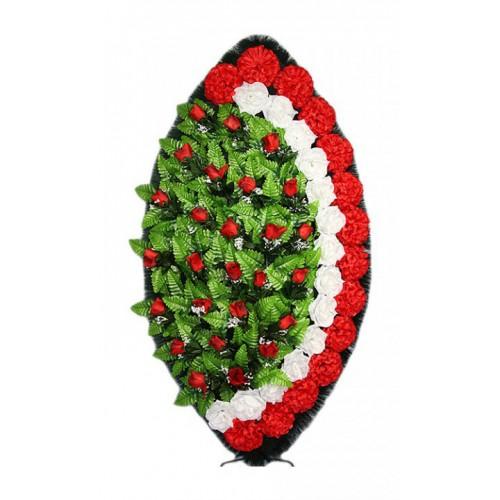 Венок Элегия бутон красный 125 см
