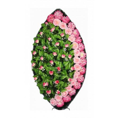 Венок Элегия бутон розовый 125 см
