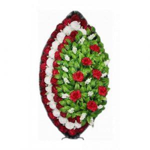 Венок Элегия гвоздика бордовый 125 см