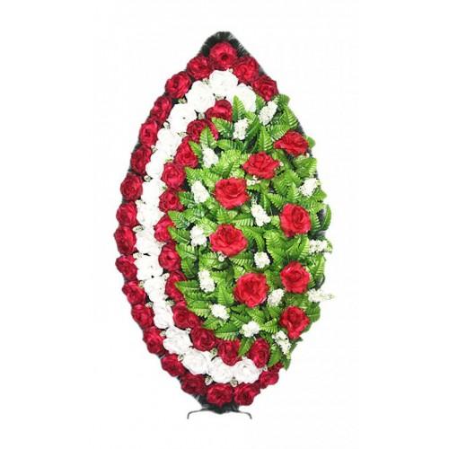 Венок Элегия роза бордовый 125 см