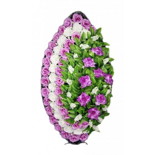 Венок Элегия роза сиреневый 125 см