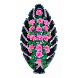 Венок Гвоздика бело-розовая 110 см
