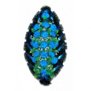 Венок Гвоздика синяя 110 см