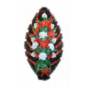 Венок Каллы бело-красные 110 см