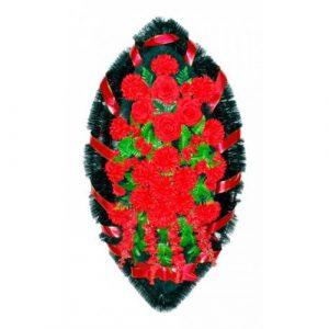 Венок Каскад хризантема красная 140 см