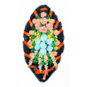 Венок Каскад хризантема рыжая 140 см