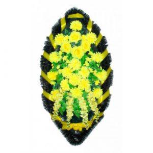 Венок Каскад хризантема желтая 140 см