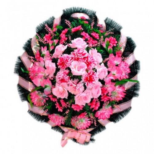 Венок Круглый розовый