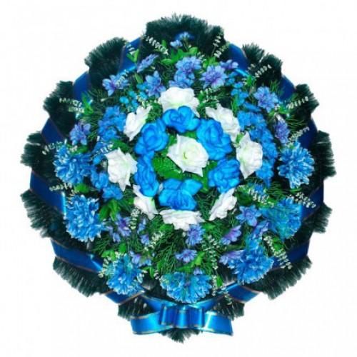 Венок Круглый синий