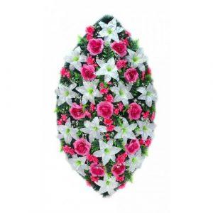 Венок Лилия розовая 125 см