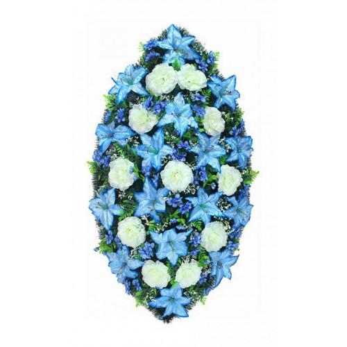 Венок Лилия синяя 125 см