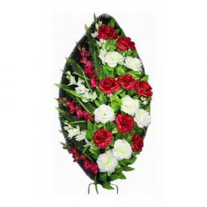 Венок Роза Атлас бордовая 125 см