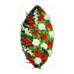 Венок Роза Атлас красная 125 см