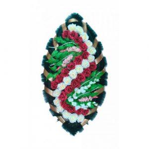 Венок Розы бело-бордовые 125 см