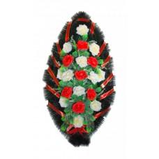 Венок Розы бело красные 110 см