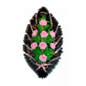 Венок Розы бело-розовые 90 см