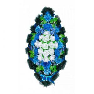 Венок Розы бело-синие 110 см