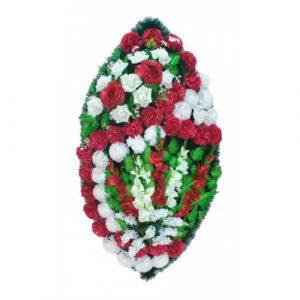 Венок Розы бордовые 125 см