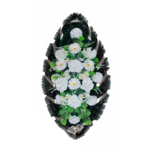 Венок Розы герберы белые 110 см
