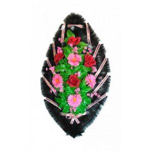 Венок Розы герберы бордово-розовые 90 см