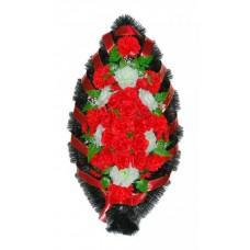 Венок Розы красные 110 см