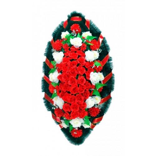 Венок Розы красные 140 см