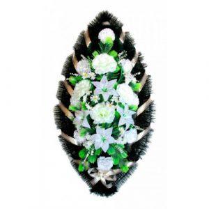 Венок Розы лилии белые 110 см
