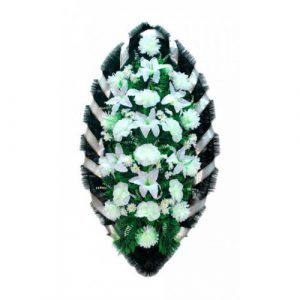 Венок Розы лилии белые 140 см
