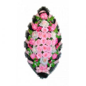 Венок Розы розовые 110 см