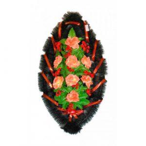 Венок Розы рыжие 90 см
