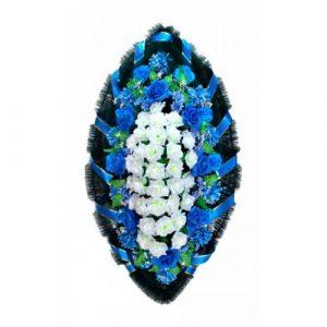 Венок Розы синие 140 см
