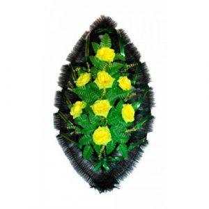 Венок Розы желтые 90 см